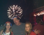 Dave and his daughters enjoying the 4th of July celebrations at Fort Meade Maryland